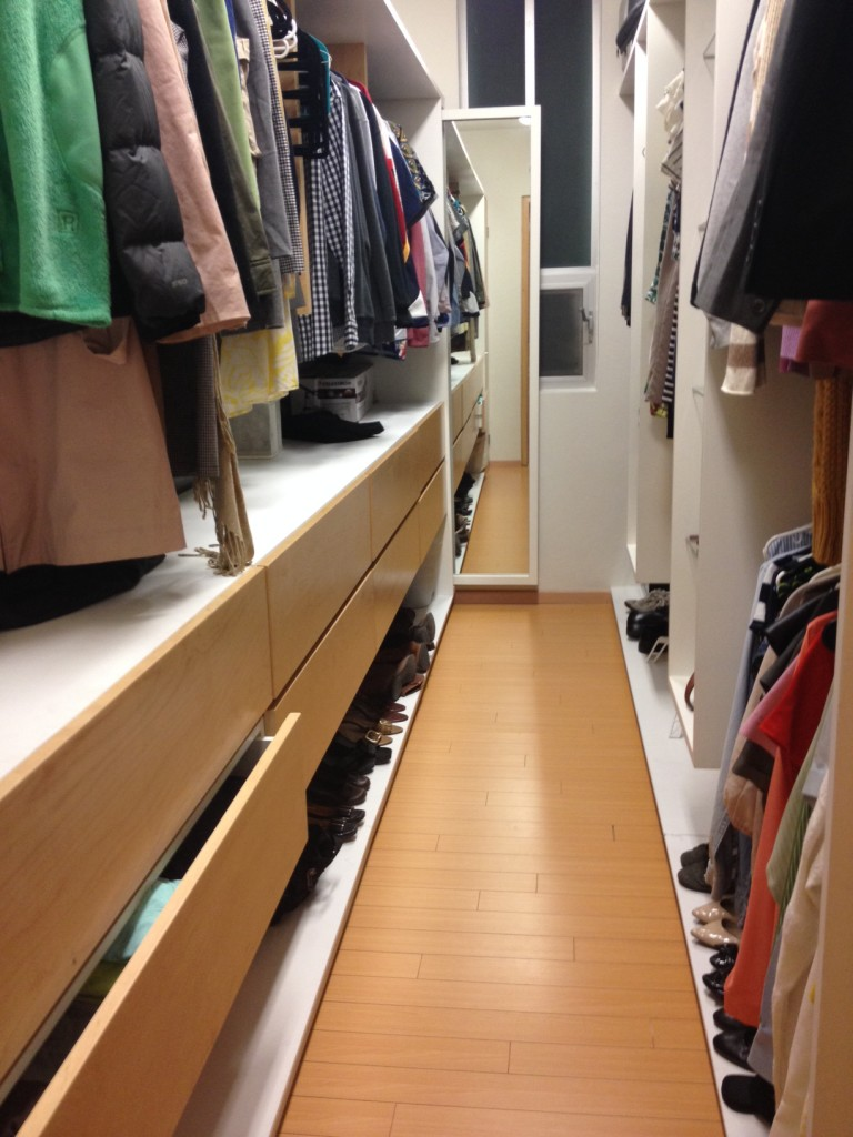 Master closet, which is actually even bigger than it appears.